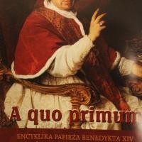 A quo primum. Encyklika Papieża Benedykta XIV.