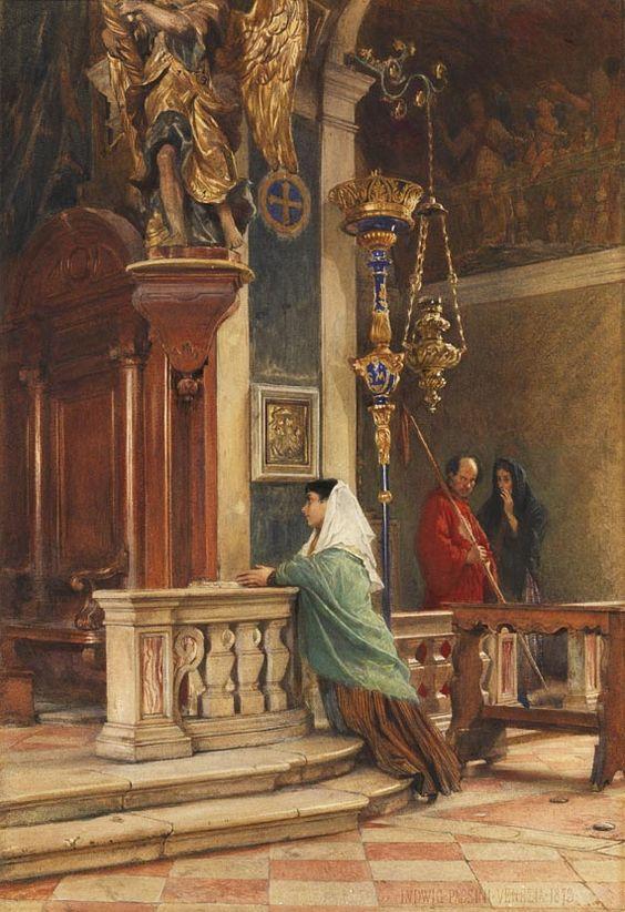 kobieta w kościele